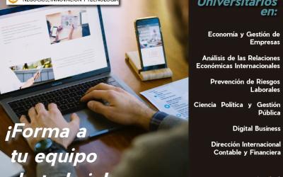 Másteres Universitarios en modalidad ONLINE reconocidos por la SENESCYT con IUNIT
