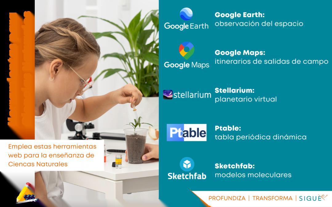 Hoy cerramos los InfoTips con las Herramientas Web para la enseñanza de Ciencias Naturales