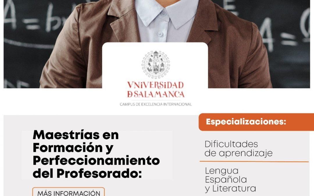 Inicio de Inscripciones Máster en Formación y Perfeccionamiento del Profesorado USAL