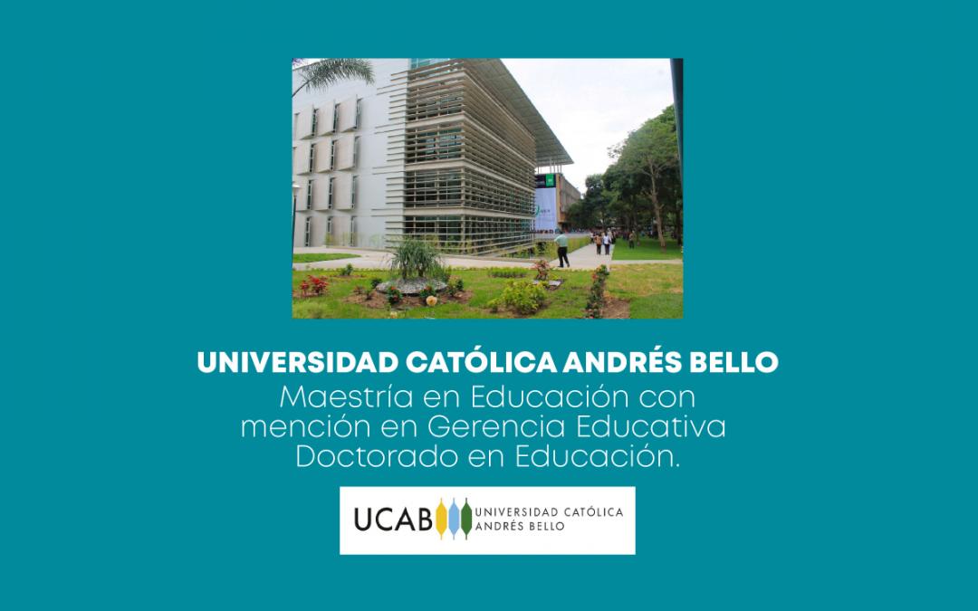 Convocatoria Semestre Octubre 2021-Febrero 2022-Universidad Católica Andrés Bello