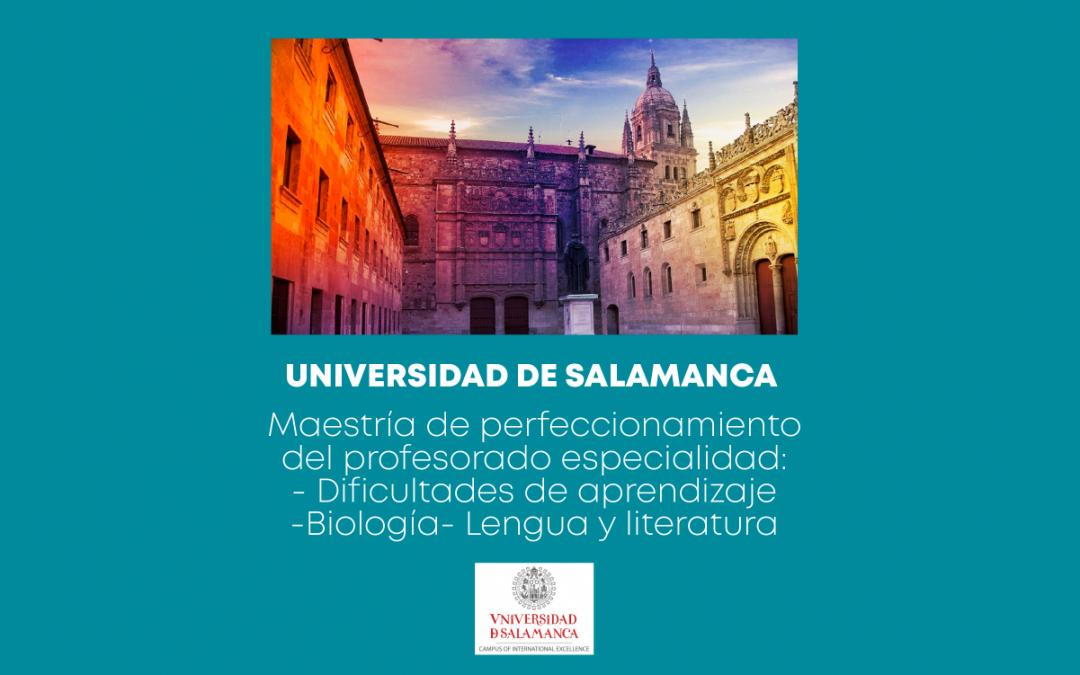Convocatoria Semestre Octubre 2021- Febrero 2022 – Universidad de Salamanca