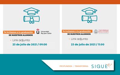 Enhorabuena… ¡ Nuestros egresados tendrán la ceremonia de graduación !