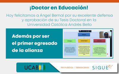 Primer egresado del Doctorado en Educación desarrollado a través de la alianza con la UCAB