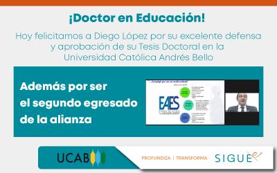 Segundo egresado del Doctorado en Educación desarrollado a través de la alianza con la UCAB